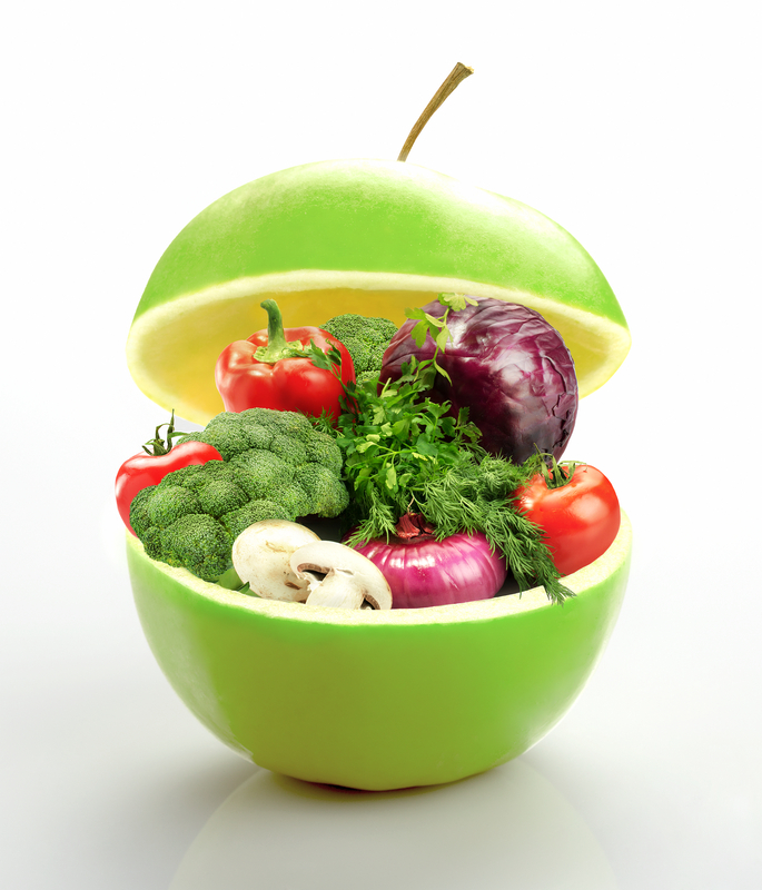 Apple and Vegetables